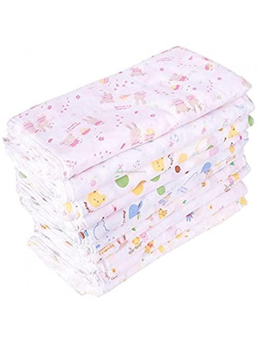 2929cm Gauze Cotton Baby Handkerchief Square Towel Muslin Cotton Infant Face Towel Wipe Cloth Appease Towel-Random