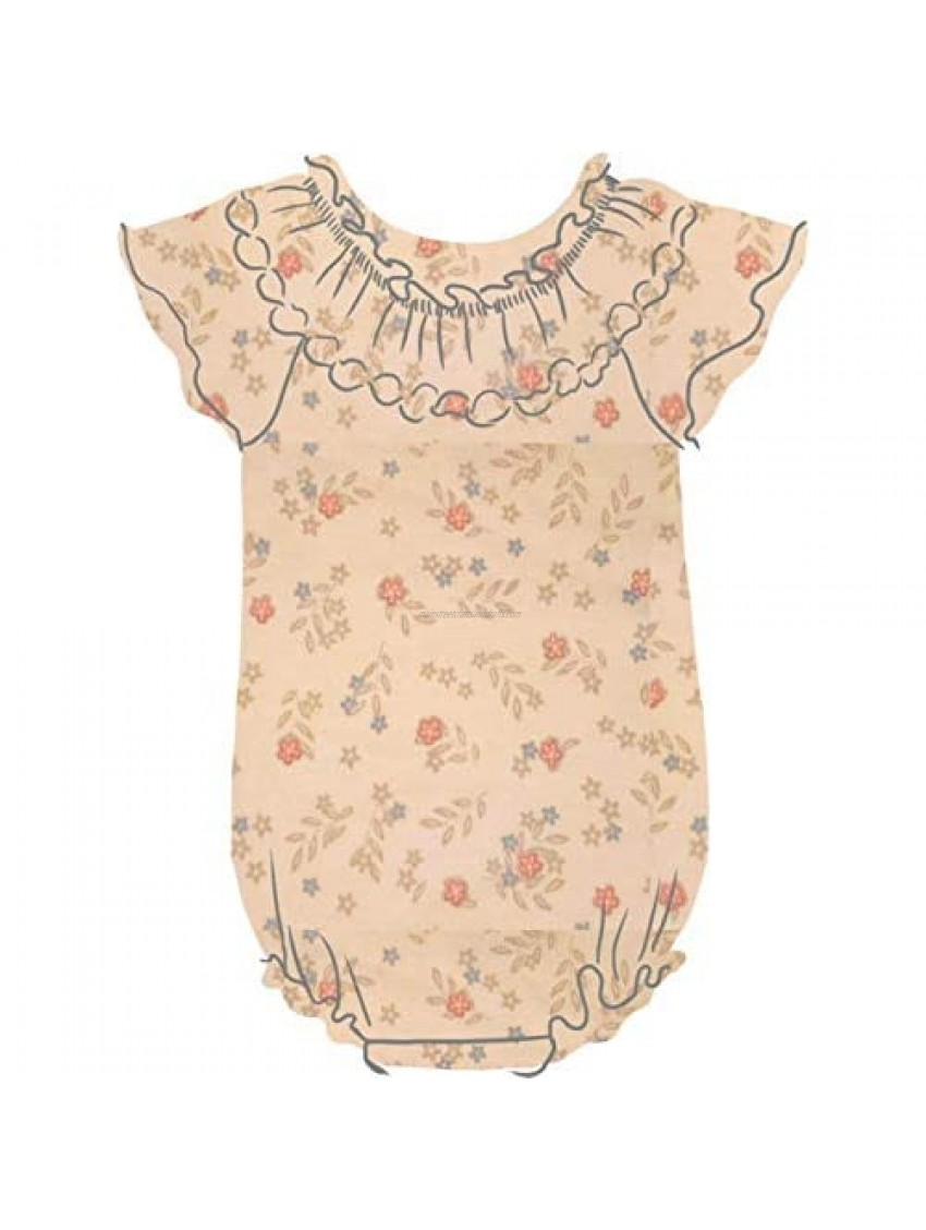 Feather Baby Baby Bubble Romper for Girls   Ethically Produced Peruvian Pima Cotton Baby & Toddler One-Piece   Soft & Hypoallergenic Kids Playwear