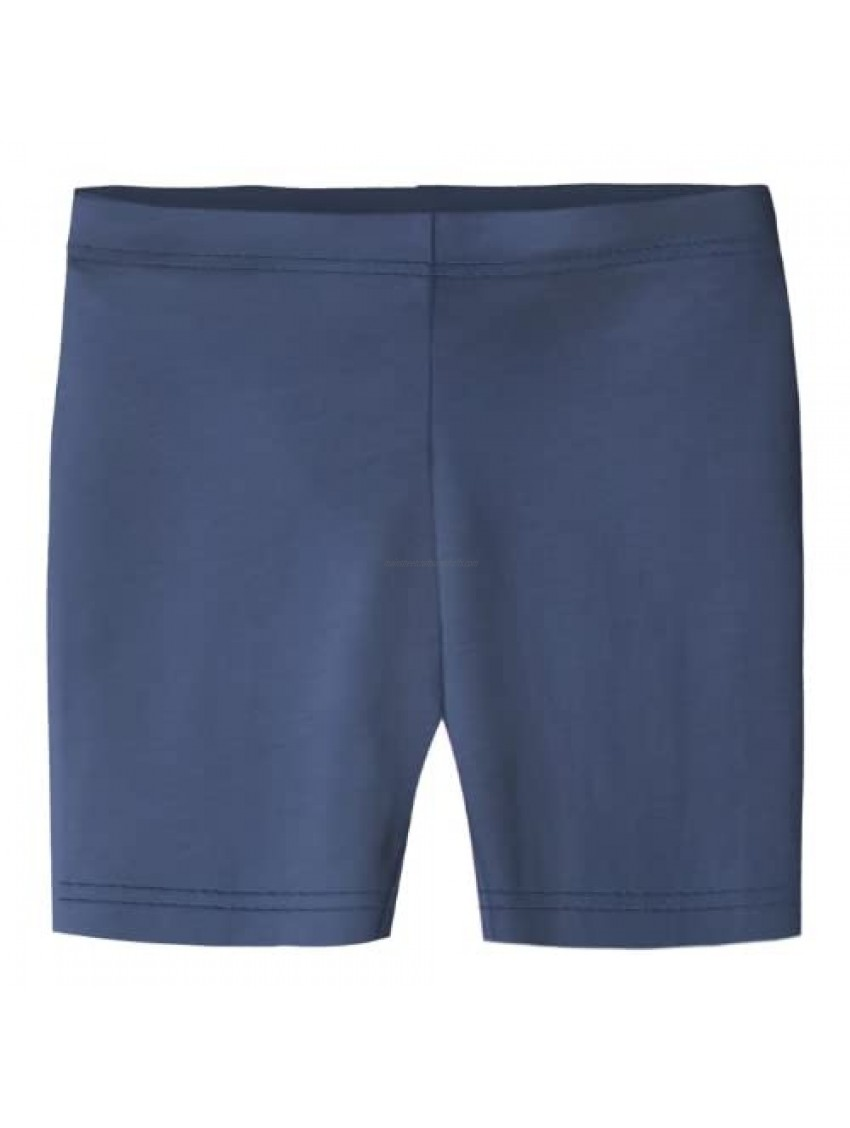 City Threads Girls' 100% Cotton Bike Shorts for Sports  School Uniform  or Under Skirts Made in USA