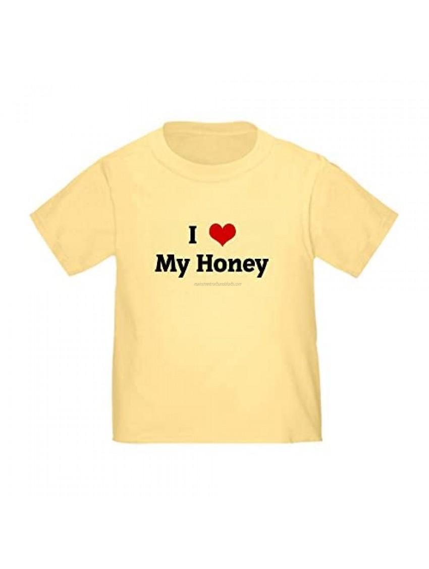 CafePress I Love My Honey Toddler T-Shirt Toddler Tee