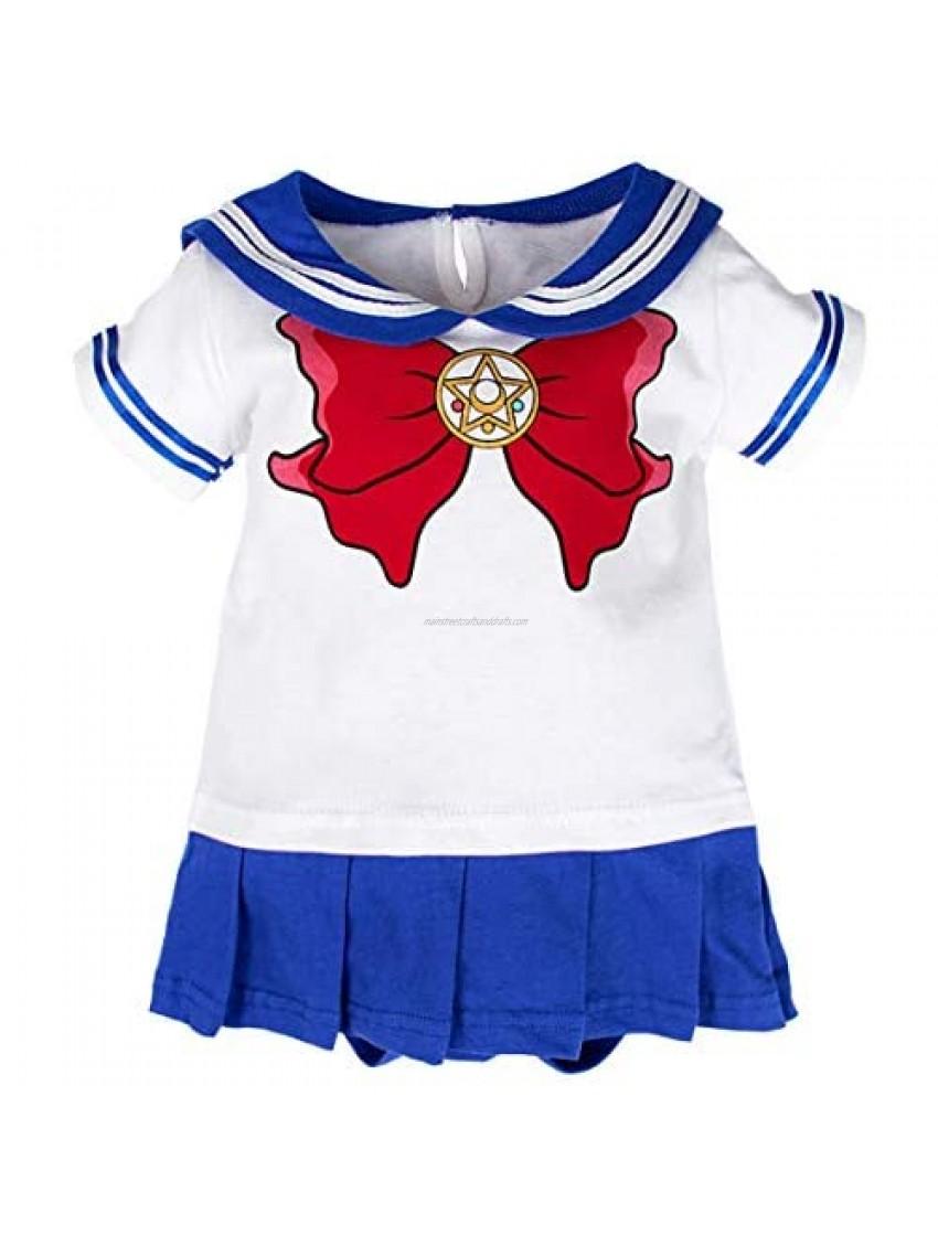Baby Girls' Sailor Bodysuit Short Sleeve Dress