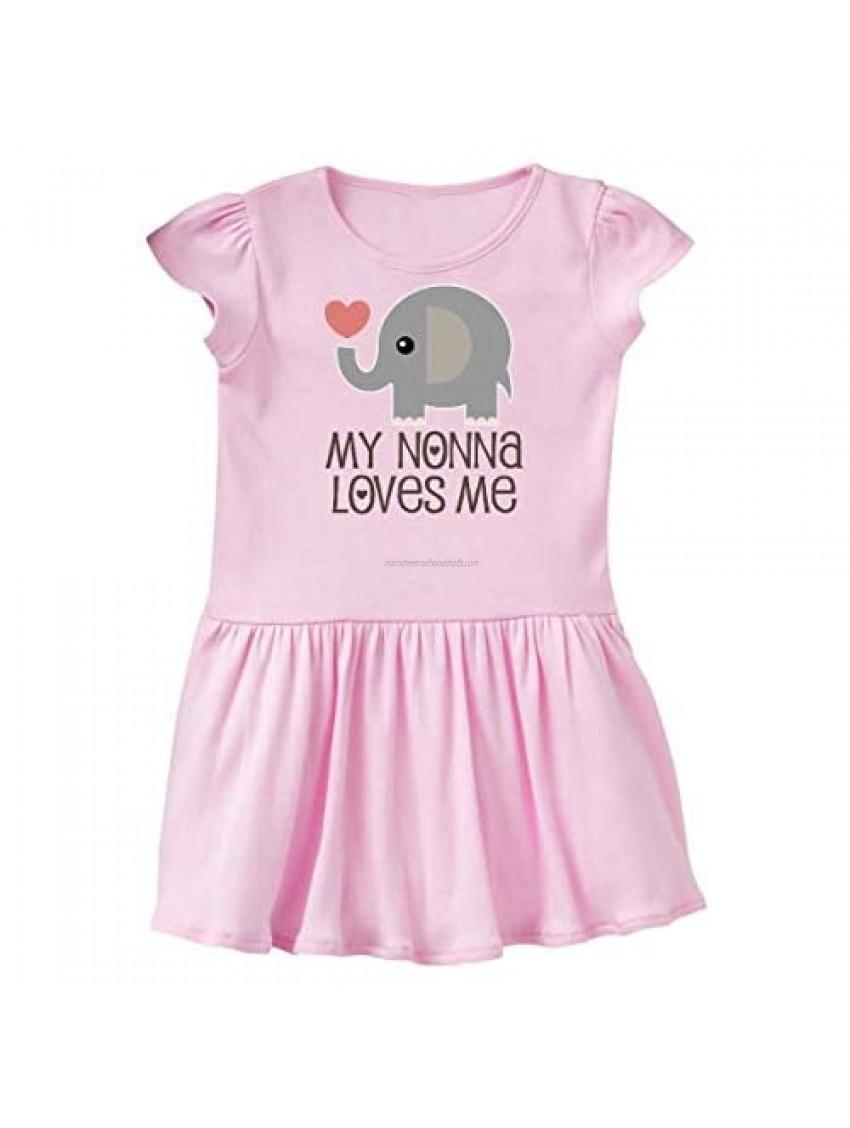inktastic My Nonna Loves Me Baby Boy Girl Elephant Infant Dress