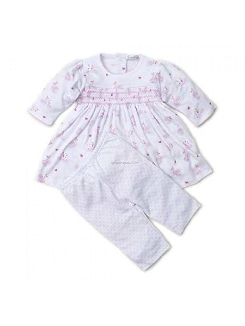 Kissy Kissy Baby-Girls Infant Sparkling Swans Print Dress with Leggings