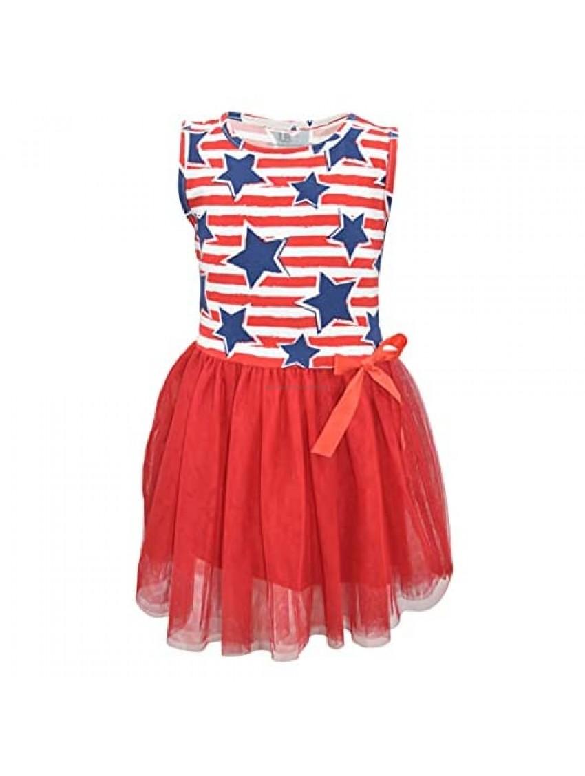 Unique Baby Girls 4th of July Stars Stripes Tutu Dress