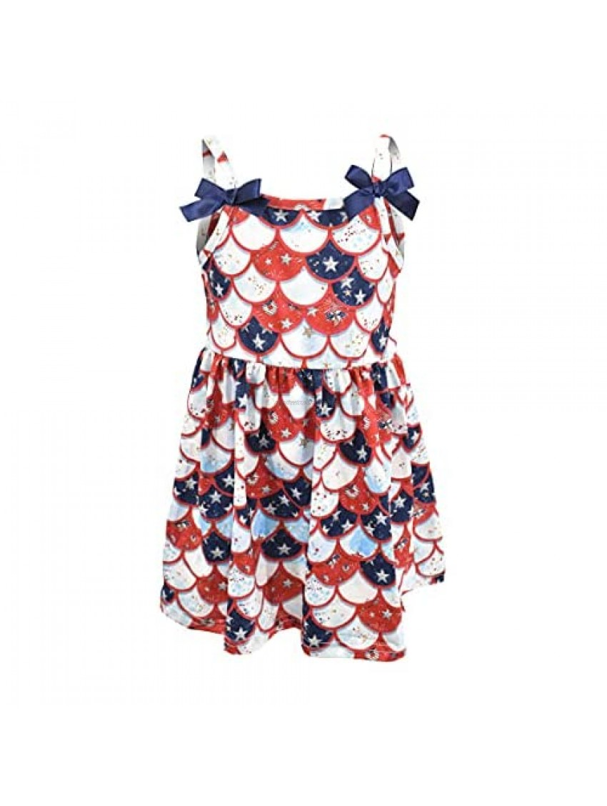 Unique Baby Girls USA Scaled Strap Dress