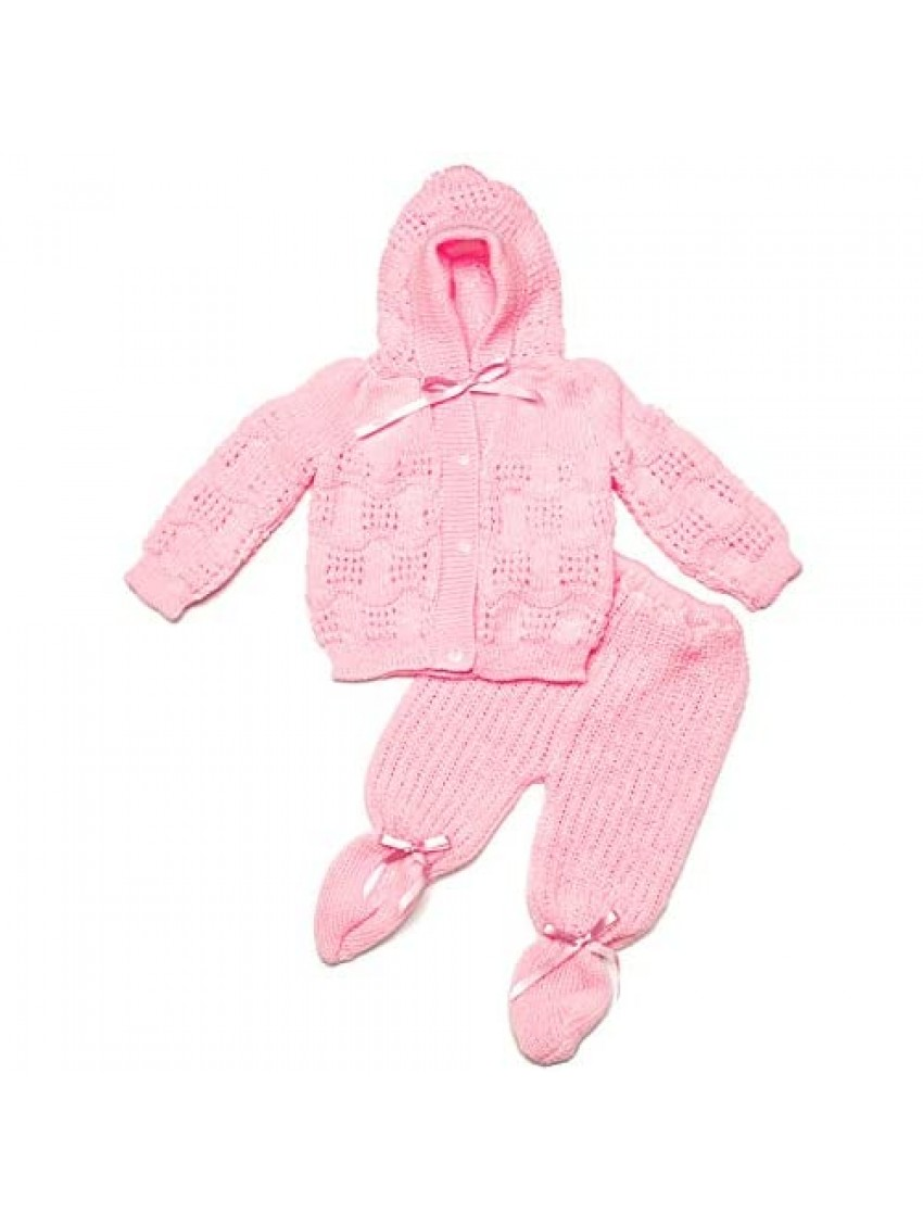 FLVFF Baby Crochet Outfit Set Newborn Boy's Girl's Warm Winter Beautiful Clothing 2 Pieces