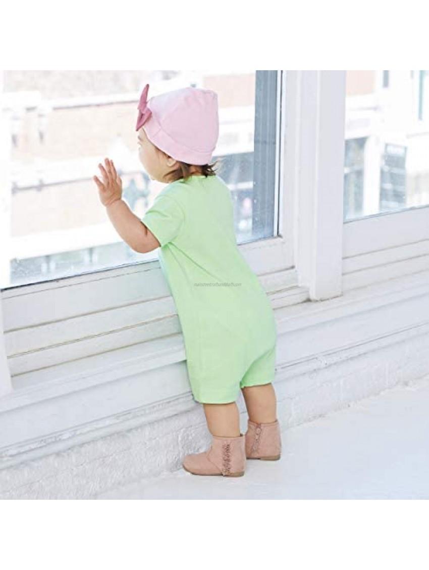 RABBIT SKINS Infant 100% Cotton Premium Jersey Short Sleeve Romper
