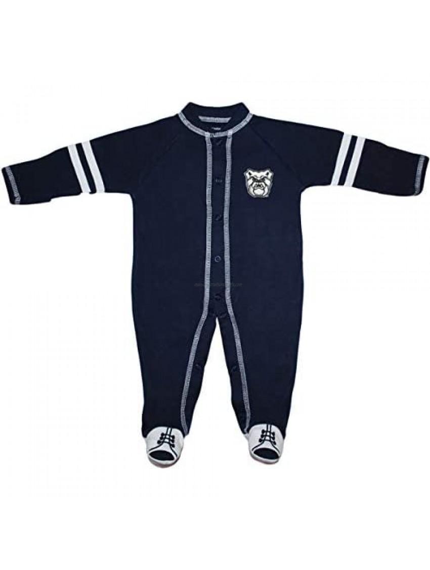Creative Knitwear Butler University Bulldogs Sports Shoe Footed Baby Romper