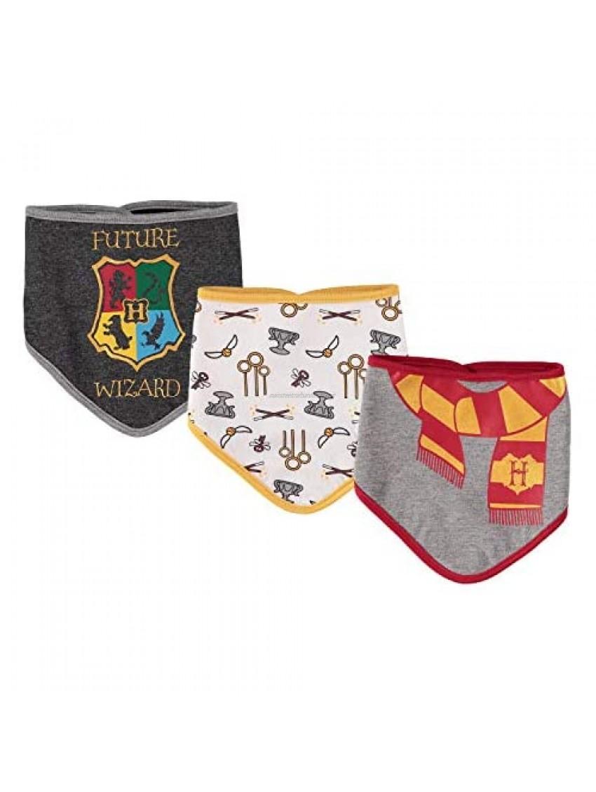 Harry Potter Baby Boys 3-Pack Bandana Bibs
