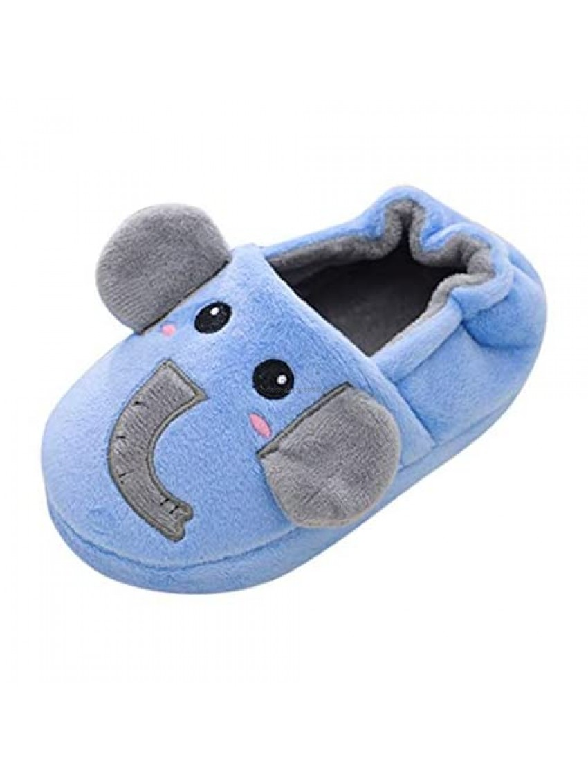 FIN86 Baby Shoes Toddler Infant Kids Baby Warm Shoes Boys Girls Cartoon Soft-Soled Slippers for Winter