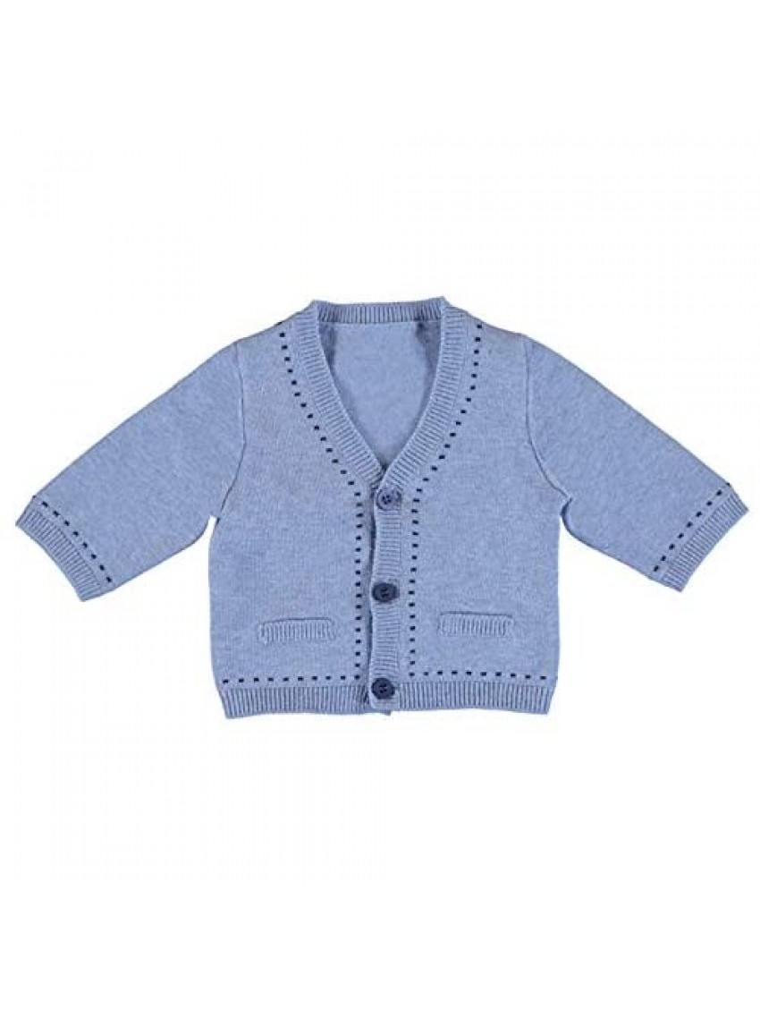 In Fashion Kids Mayoral Baby Boys Light Blue Cotton Cardigan Sweater