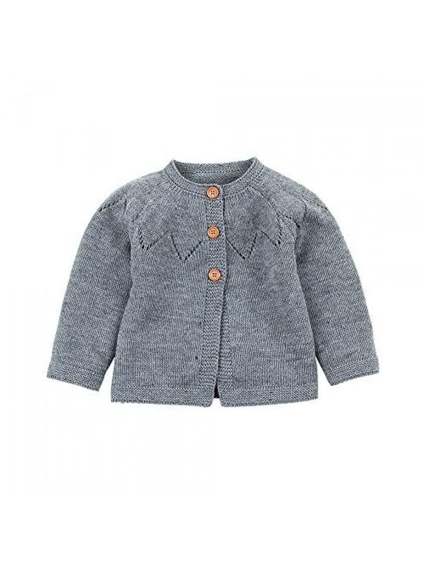 Outtop(TM) Baby Boy Girl Fleece Cardigan Sweater Toddler Infants Fall Winter Decorative Pattern Soft Warm Jackets Coat