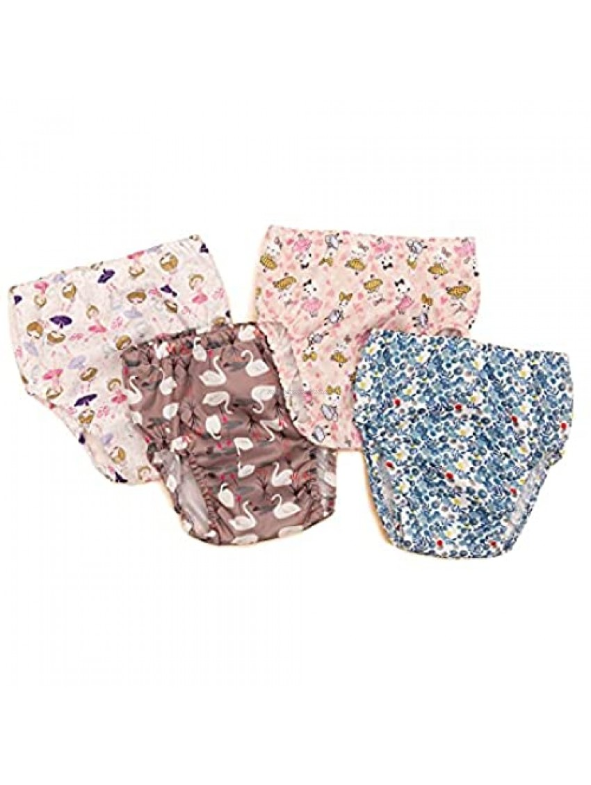 Baby Girls' Waterproof Pants,Soft and Quiet - Plastic Pants for Toddlers,2-5T,Covers for Training Pants (4T)