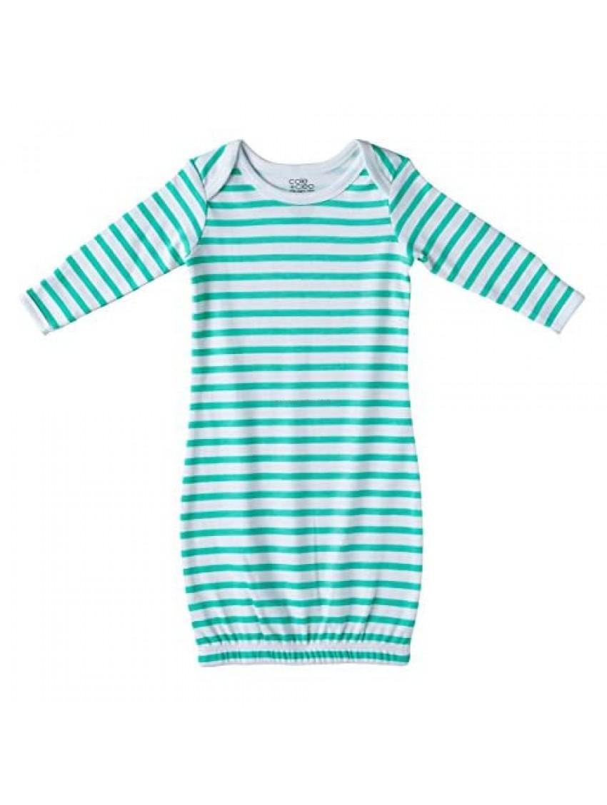 Cole + Cleo Organic Cotton Baby Sleep Gown Infant Sleep Sack Newborn Nb Pajamas