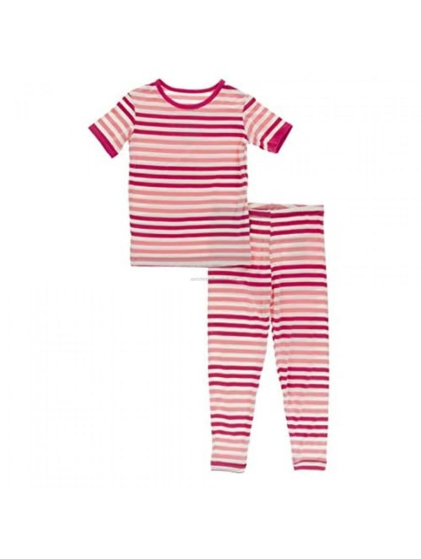 KicKee Pants - Print Pajama Set with Short Sleeves  Ultra Soft  Snug Fitting PJ's