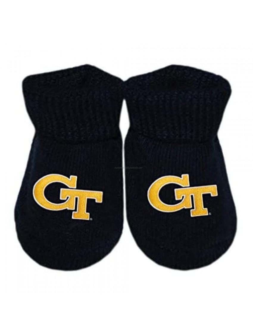 Georgia Tech Yellow Jackets Newborn Baby Bootie Sock
