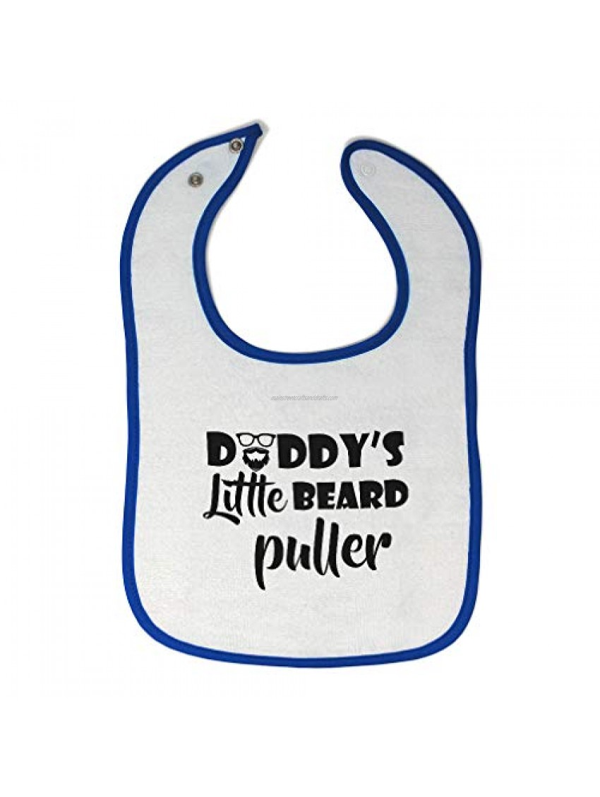 Toddler & Baby Bibs Burp Cloths Daddy's Little Beard Puller Father's Day Daddy Cotton Items for Girl Boy Pull White Royal Blue Design Only