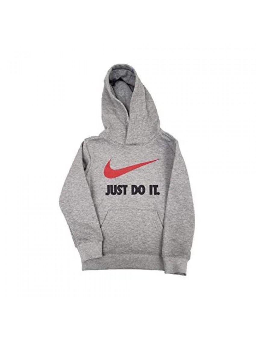 Nike Boy's Pullover Hoodie 86F853-042 (5  Dk Gray Heather)