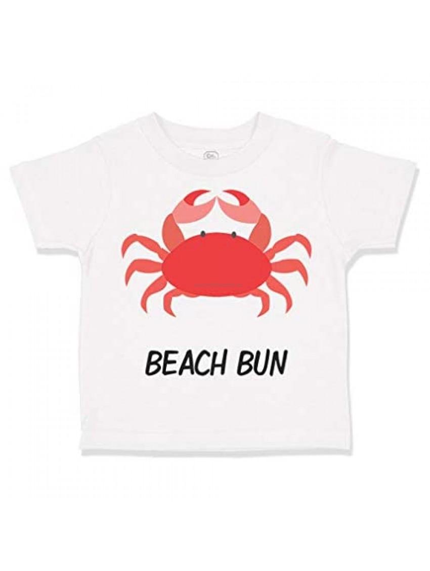 Custom Toddler T-Shirt Beach Bum Crab Ocean Sea Life Cotton Boy & Girl Clothes