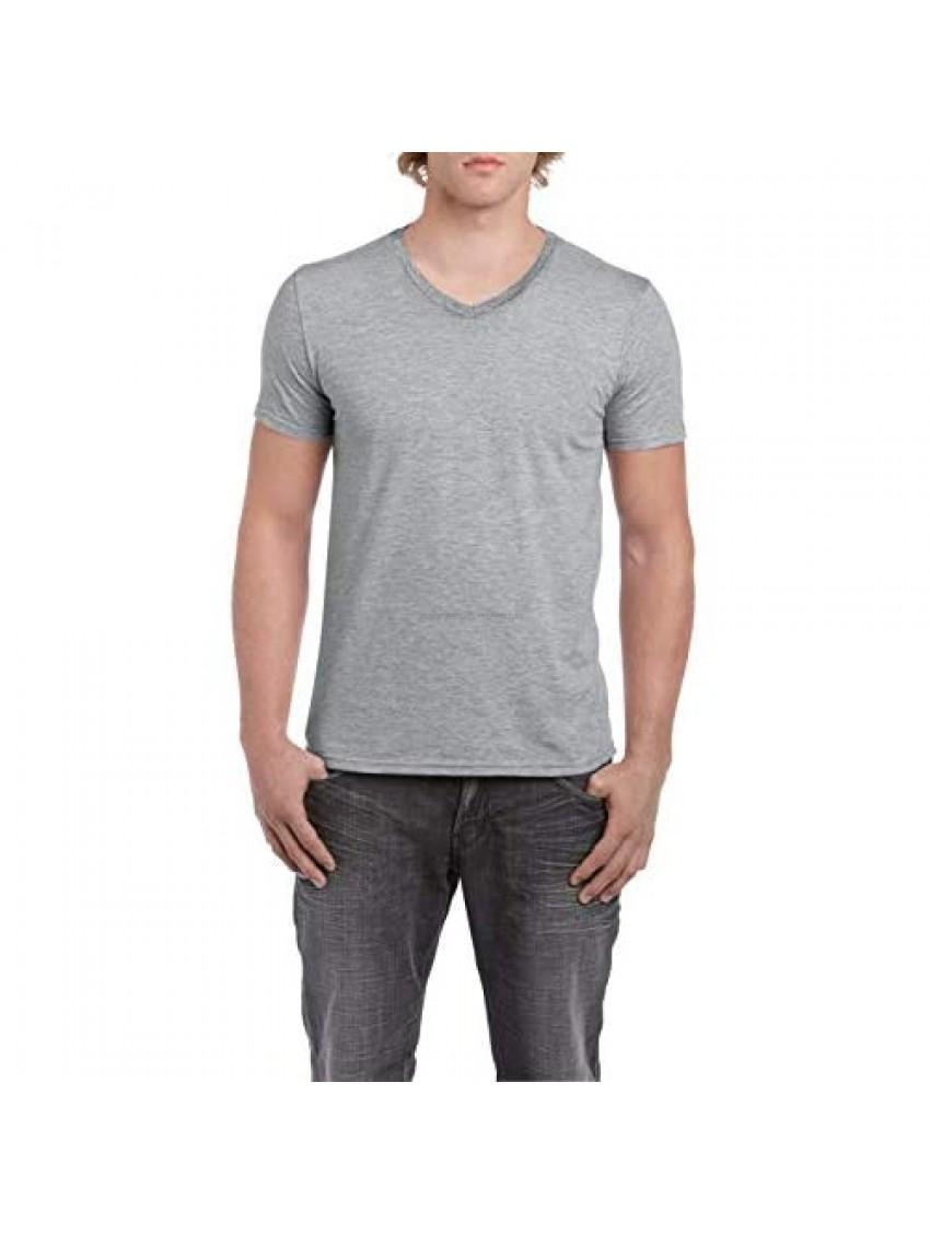 Gildan Men's Softstyle V Neck Short Sleeve T Shirt