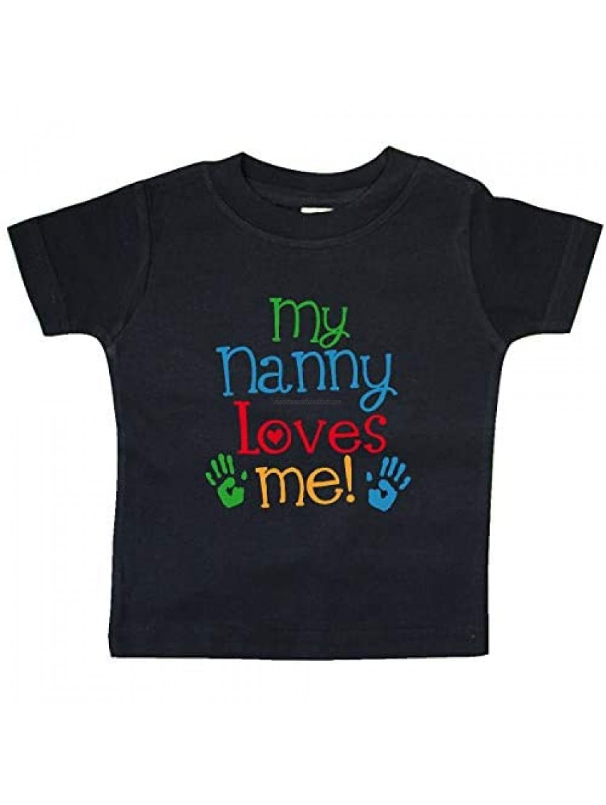 inktastic My Nanny Loves Me Gifts Grandson Baby T-Shirt