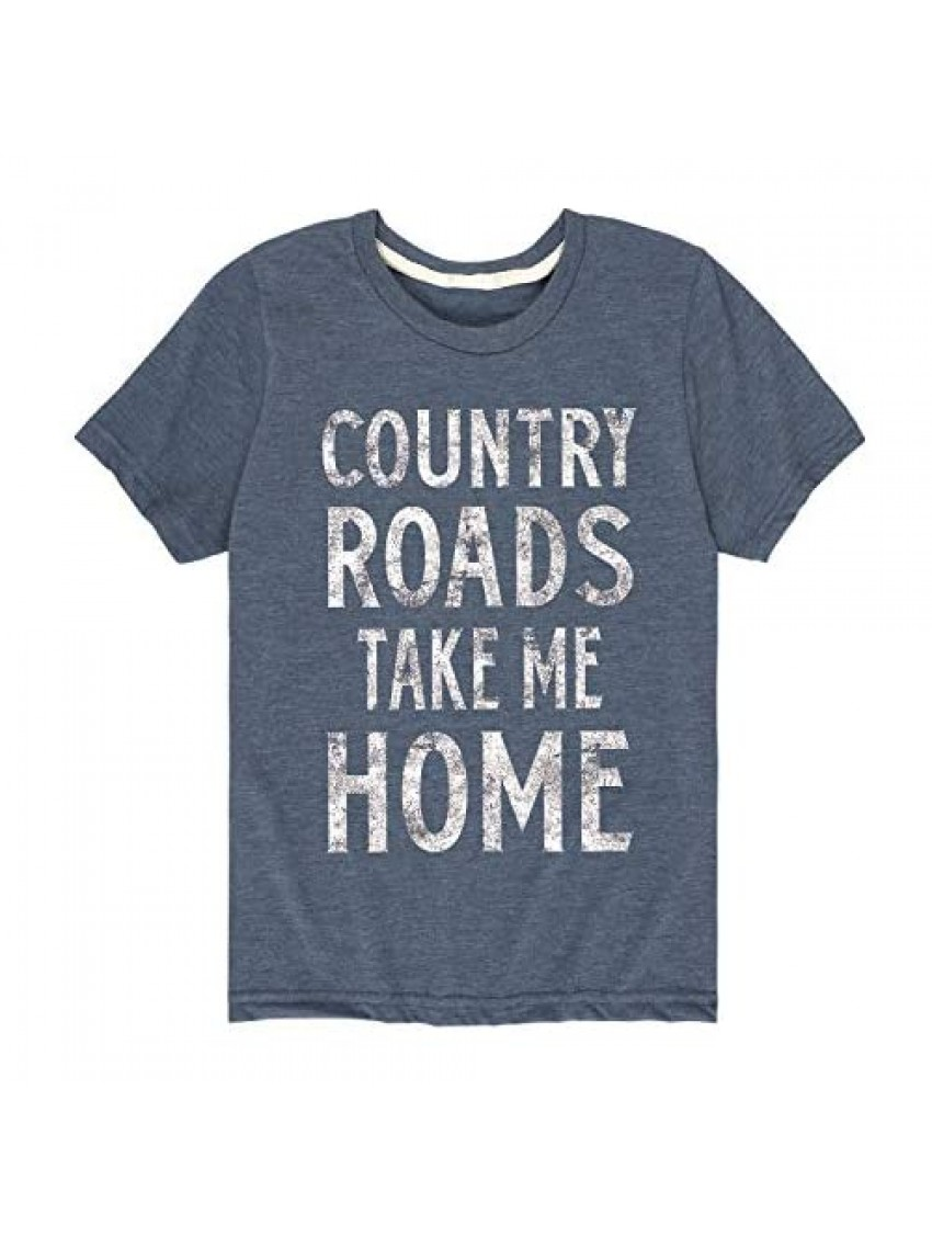Instant Message Country Roads Take Me Home - Toddler Short Sleeve Graphic T-Shirt