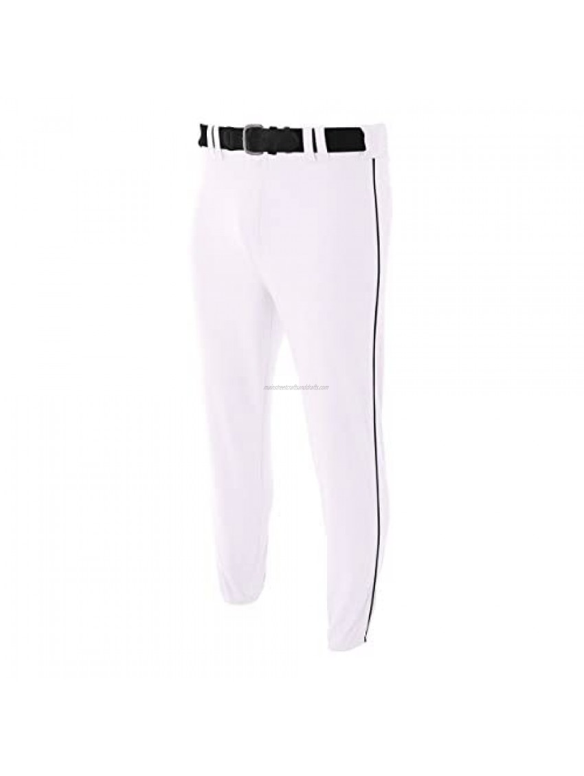 A4 Sportswear Youth Large White with Black Side Piping Baseball/Softball Baggy Pants