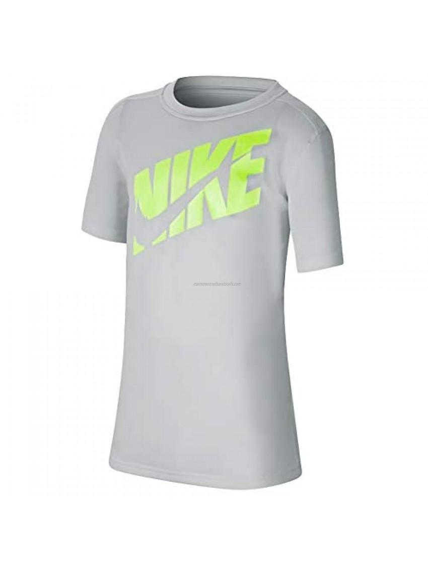 Nike Big Kids Boys Short-Sleeve Training Top Cj7736-078