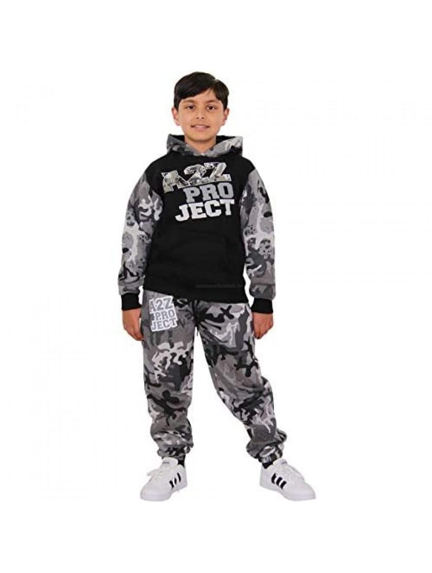A2Z Kids Boys Girls Tracksuit Designer Project Camouflage Hooded Top Bottom 5-13