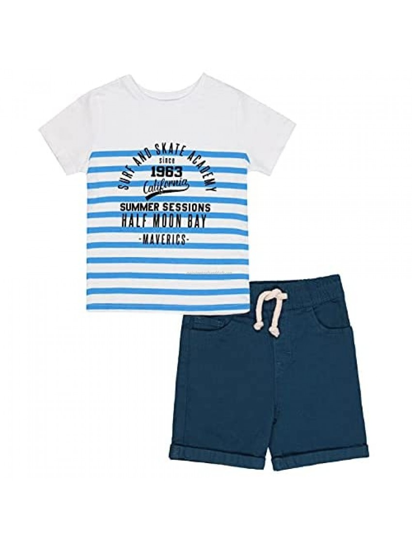 2-Piece Set Baby and Toddler boy - Graphic Tees and Chinos Shorts - Clothes for Toddler and Kids
