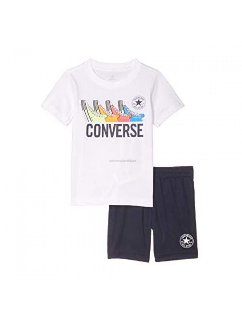 Converse Kids Boy's Graphic T-Shirt & Shorts Set (Little Kids)