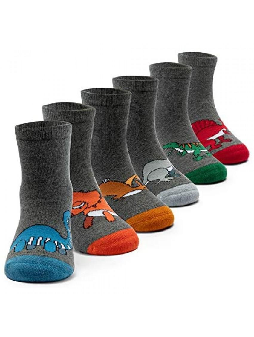 Boys Wool Socks Kids Winter Warm Socks Thermal Crew Socks 6 Pack