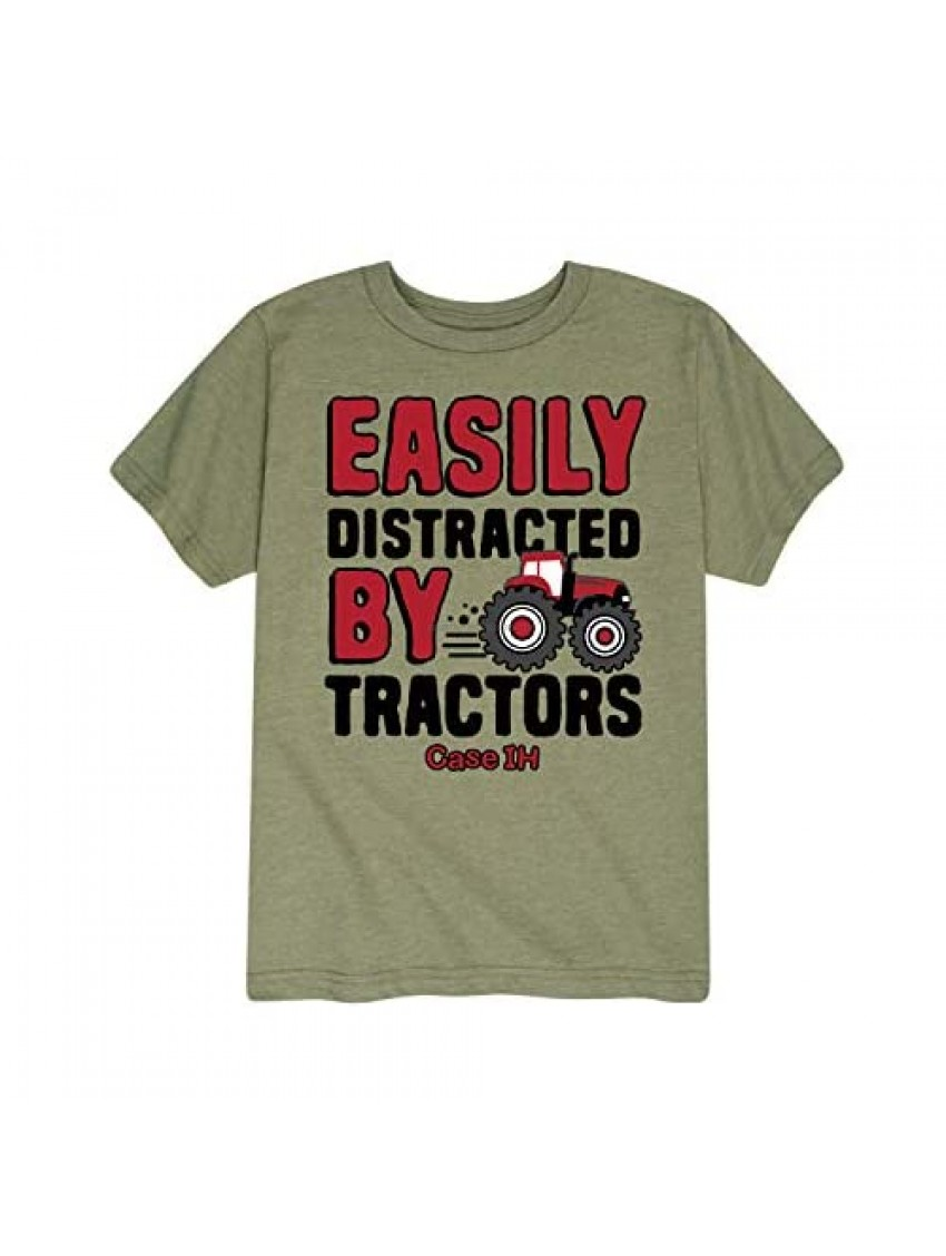 Case IH Distracted by Tractors - Toddler Short Sleeve Graphic T-Shirt
