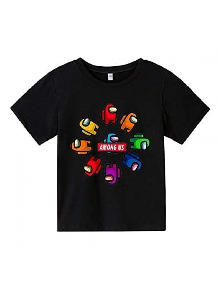 Anime Boys and Girls Youth Shirt Fashion 3D Printing Imposter Game Round Neck Short Sleeve T-Shirt