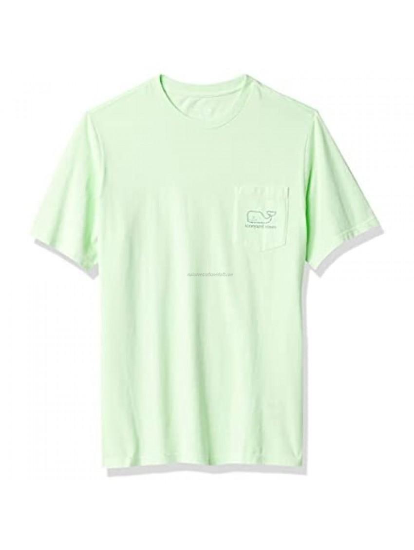 Vineyard Vines Boys' Short Sleeve Garment Dyed Vintage Whale Pocket T-Shirt