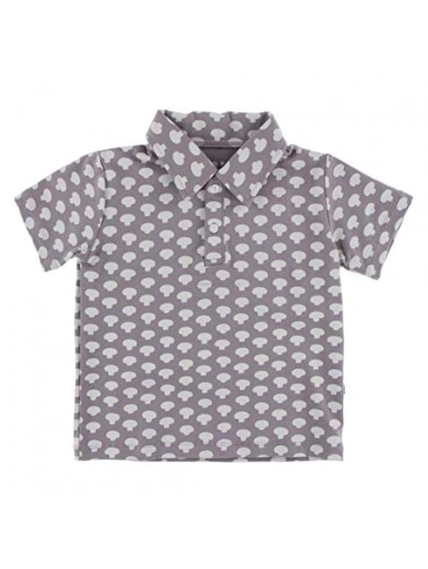 KicKee Pants Boys Polo Shirt  Short Sleeve Prints  Made in Our Luxe Jersey Fabric