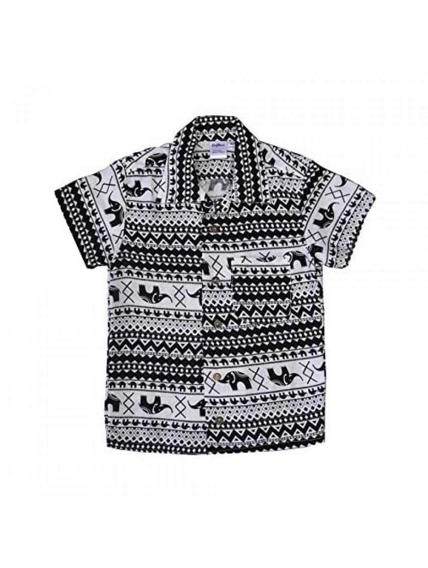 LOFBAZ Cute Hawaiian Shirts Short Sleeves for Kids Boy Girl Summer Beach T Shirt