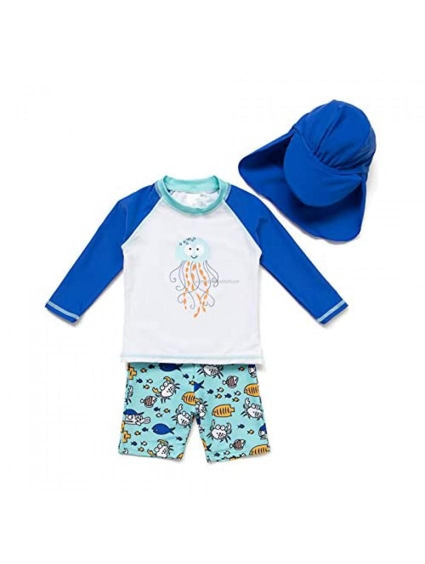 BONVERANO Boys Swimsuit with UPF 50+ Sun Protection Swimwear Sets