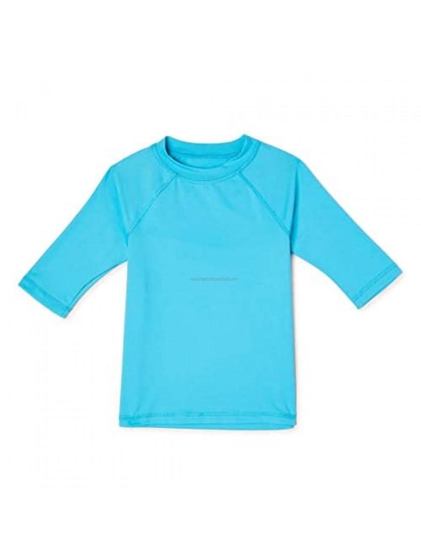 Wonder Nation Clothing Neptune Blue Short Sleeve Rash Guard
