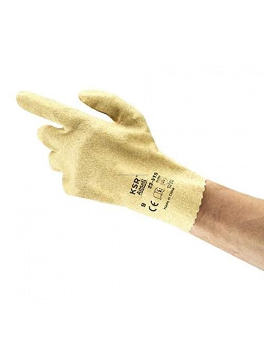 Ansell KSR 22-515 Vinyl Glove  Coated on Interlock Knit Liner  Medium (Pack of 12 Pairs)