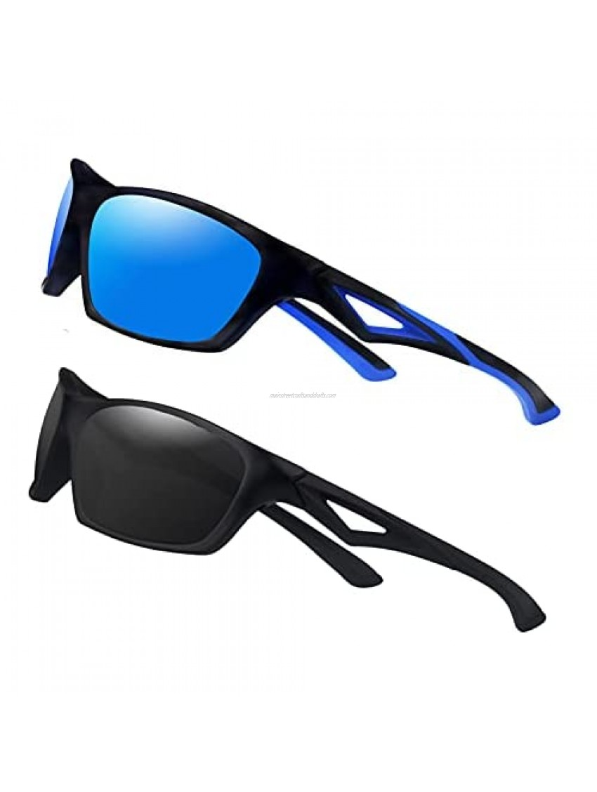 2 Pack Toddlers Sunglasses Polarized Outdoor Sports  with TPEE Unbreakable Flexible Frame  for Kids Boys and Girls Age 2-6