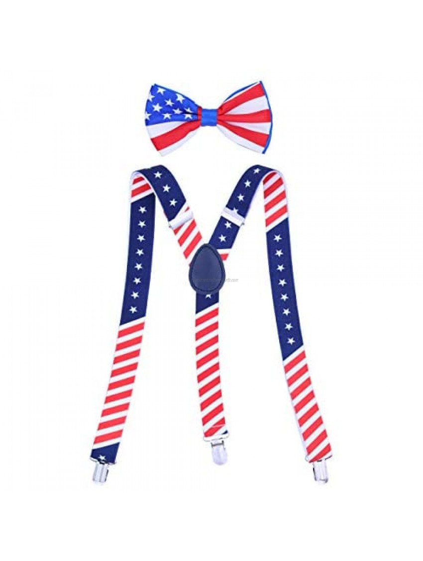 Buha Suspenders for Men  2 in 1 Suspenders and Bow Tie  Mens Outfits Casual Suspender and Bow Tie Special Edition