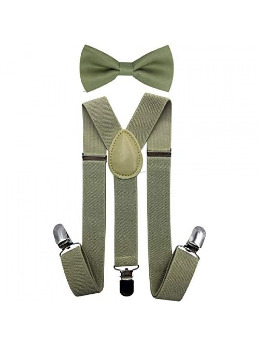 Consumable Depot Kids  Toddlers Suspender and Bow Tie Set  Adjustable Set and Colors for Boys and Girls