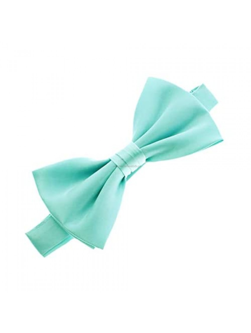 Classic Pre- Tied Satin Adjustable Bow Tie Solid Formal Tuxedo Style For Baby's  Children & Men