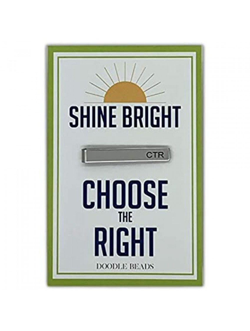 Doodle Beads CTR Tie Clip  Shine Bright and Choose The Right  CTR Tie Bar  CTR Tie Clip