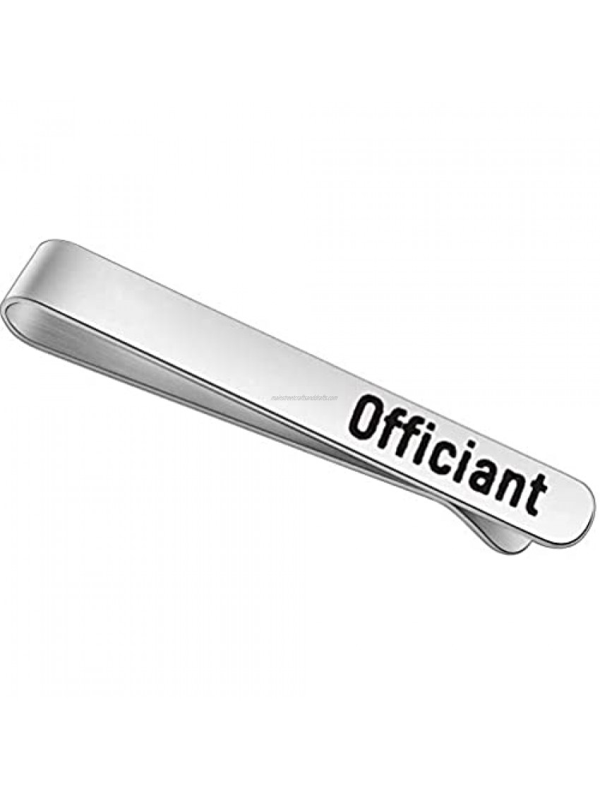 FEELMEM Wedding Officiant Gift Officiant Stainless Steel Tie Clips Wedding Party Appreciation Gift for Wedding Officiant