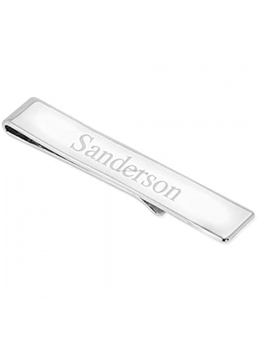 Things Remembered Personalized Sterling Silver Tie Bar with Engraving Included