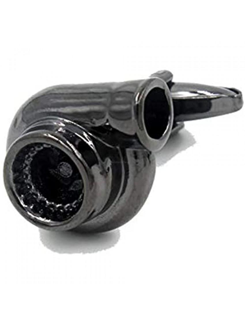 3D Gun Black Mini Turbo Cufflinks