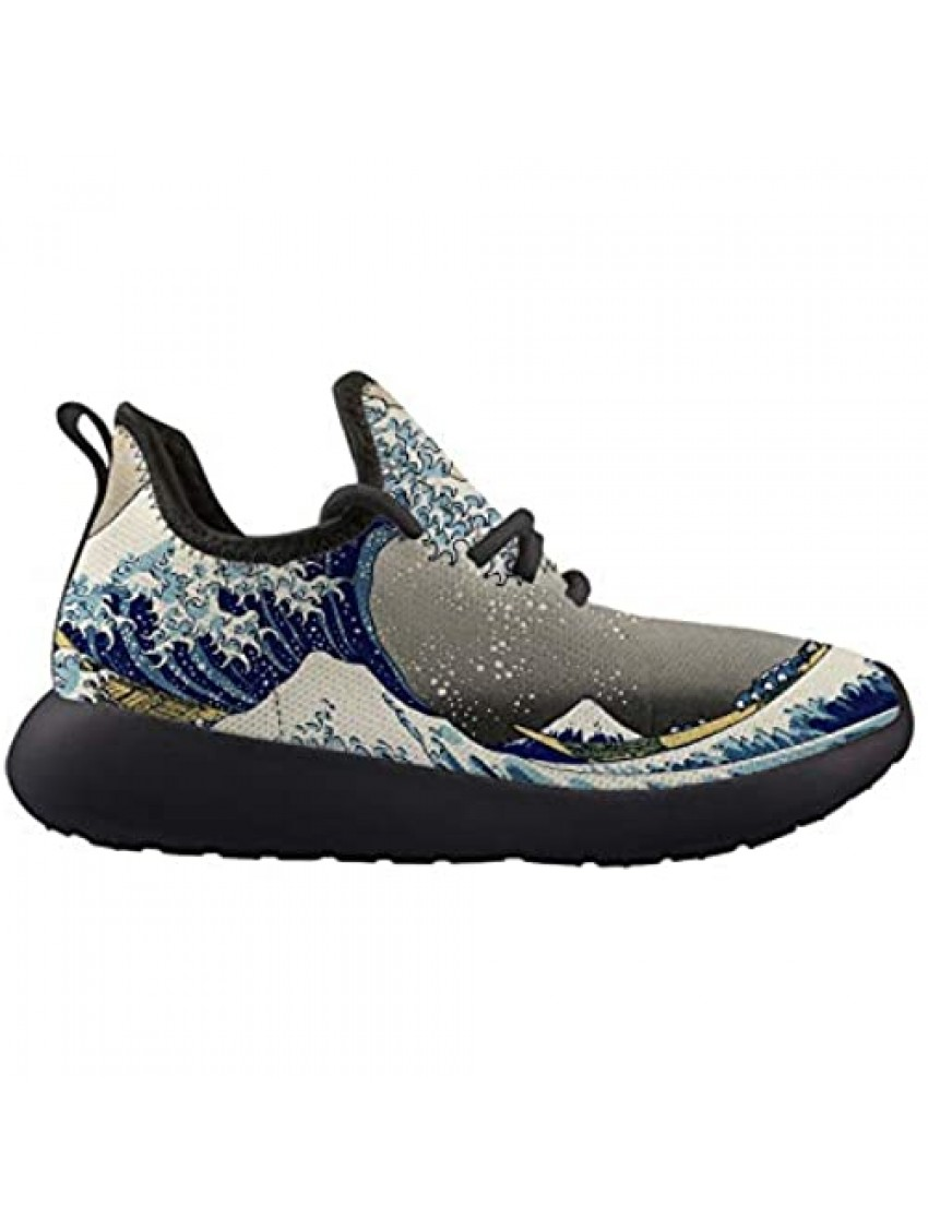 The Great Wave of Kanagawa Kids Sneaker Lightweight Breathable Running Tennis Boys Girls Shoes