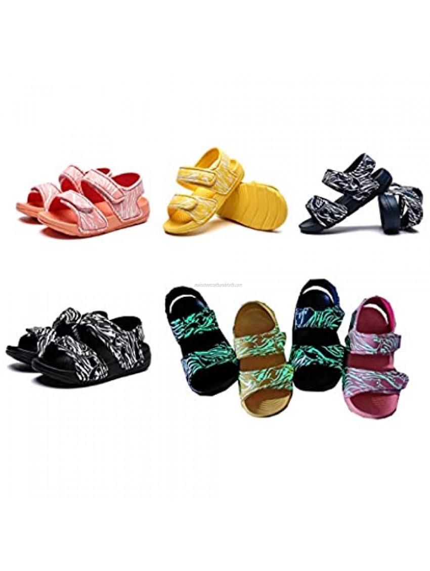 HONROY Unisex Baby Velcro Darkness Shine Outdoor Casual Sandals
